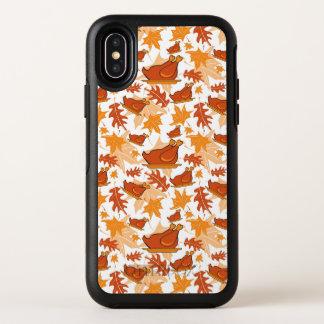 Herbstliches nahtloses Muster mit Truthähnen OtterBox Symmetry iPhone X Hülle