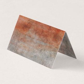 Herbstorange grauer Watercolor-einfache Platzkarte