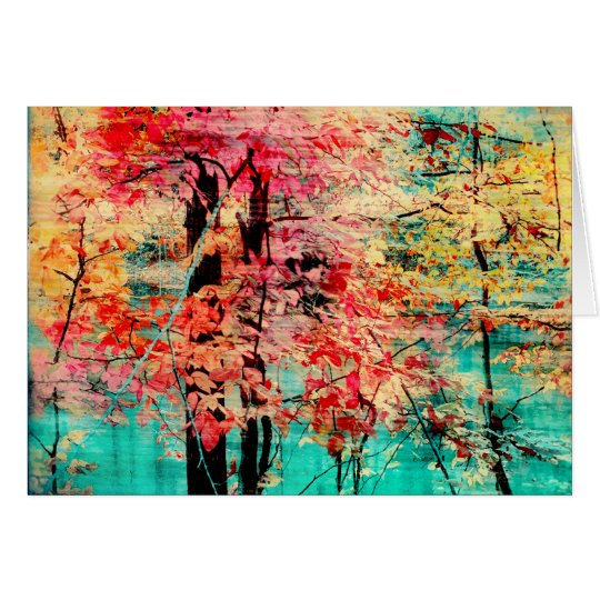 Herbsttapisserie, Fallgrußkarten, Bäume Karte