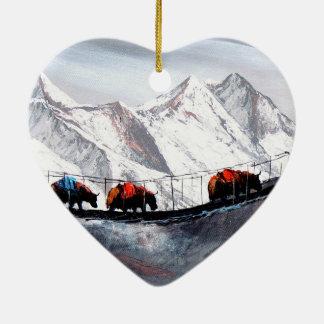 Herde der Gebirgsyak Himalaja Keramik Ornament