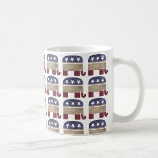 Herde von Elefanten GOP-Republikaner Kaffeetasse