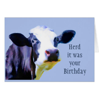 Herde war es Ihr Geburtstag, den Sie Herde sie Karte