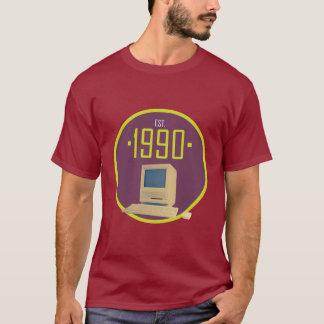 Hergestellt 1990 - Retro Computer-T - Shirt