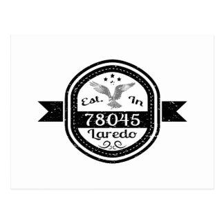 Hergestellt in 78045 Laredo Postkarte