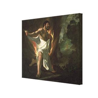 Herkules, der die brennende Robe, c.1634 zerreißt Galerie Gefaltete Leinwand
