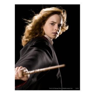 Hermione Granger prêt pour l'action Carte Postale