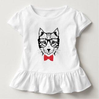 Herr Cat hispter Kleinkind T-shirt