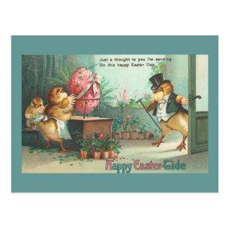 Herr-Ei-Käufer-Küken Vintages Ostern Postkarte