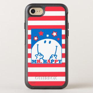 Herr Happy Patriotic Red White und Blau-Ikone OtterBox Symmetry iPhone 8/7 Hülle