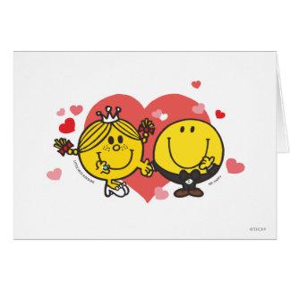 Herr Happy u. kleines Fräulein Sunshine Wedding Grußkarte