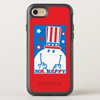 Herr Happy With Patriotic Hat OtterBox Symmetry iPhone 8/7 Hülle