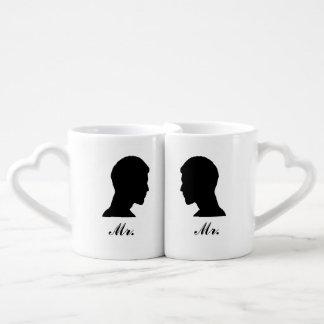 Herr/Herr Nesting Mug Set Duo-Tassen