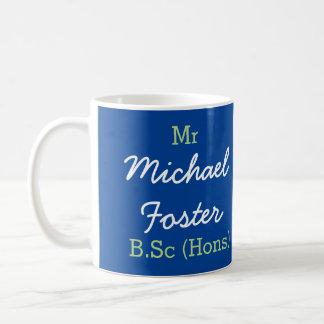 Herr (Ihr Name) B.Sc (Hons) Abschluss-Tasse Kaffeetasse