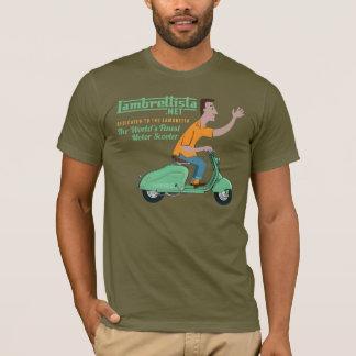 Herr Lambrettista Rides ein grünes Lambretta LD T-Shirt