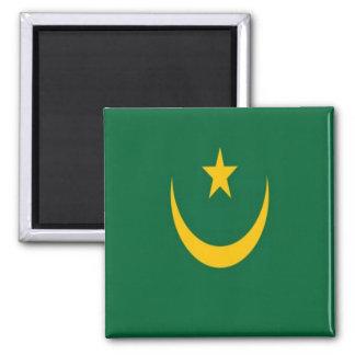 HERR - Mauretanien - Flagge Quadratischer Magnet