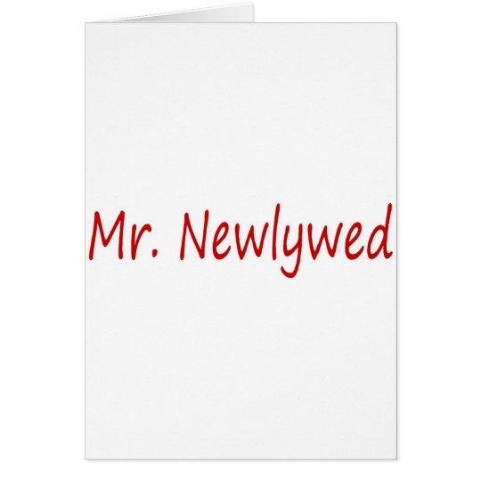 Herr Newlywed (rot) Karte