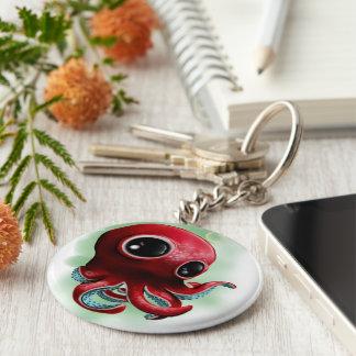 Herr Octopus Standard Runder Schlüsselanhänger