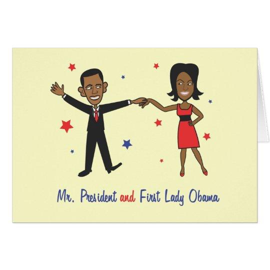 Herr Präsident und First Lady Obama Karte