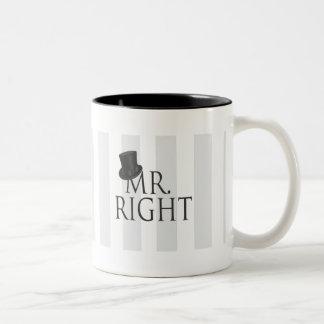 Herr Right Mug Zweifarbige Tasse