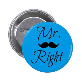Herr Right Runder Button 5,1 Cm