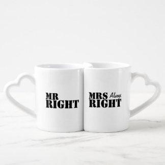 Herr Right und Hochzeit Frau-Always Right Newly Herztasse