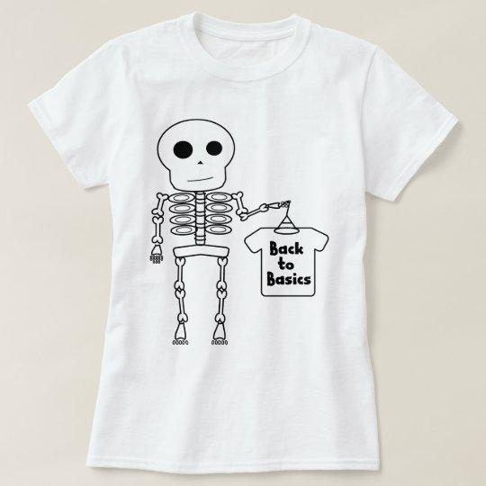 Herr Skeleton: Zurück zu Grundlagen T-Shirt