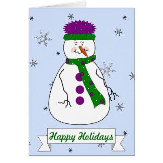 Herr Snowman, frohe Feiertage wunderlicher Karte