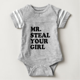 Herr Steal Ihr Babyjungen-Shirt des Mädchens Baby Strampler
