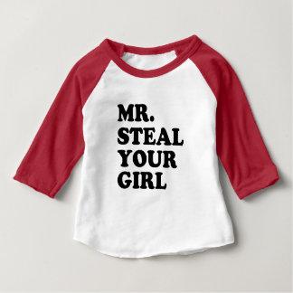 Herr Steal Ihr Babyjungen-Shirt des Mädchens Baby T-shirt