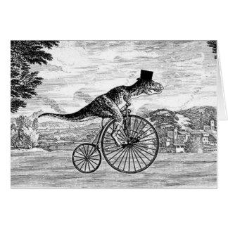 Herr T-Rexs Sonntags-Fahrt Grußkarte