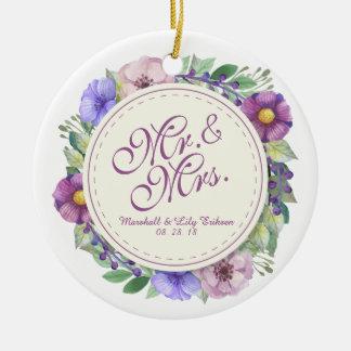 Herr u. Frau Elegant Floral Wedding Ornament