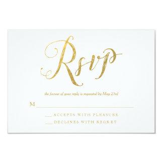 Herr-u. Frau-Gold Elegant Wedding RSVP Response Karte