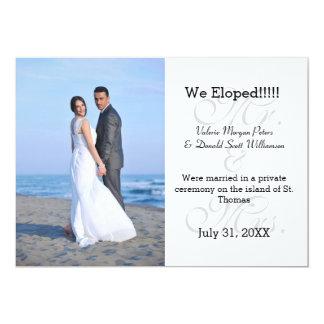 Herr u. Frau Gray We Eloped - Foto-Mitteilung 12,7 X 17,8 Cm Einladungskarte