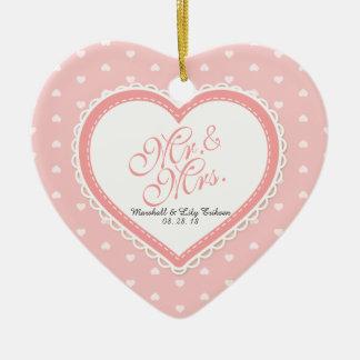 Herr-u. Frau-Heart Frame Wedding | Verzierung Keramik Ornament