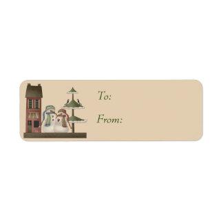 Herr u. Frau Snowman Gift Tags