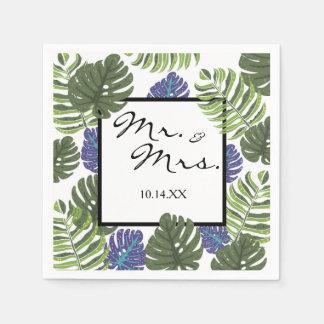 Herr-u. Frau-Tropical Modern Floral Cocktail Papierserviette