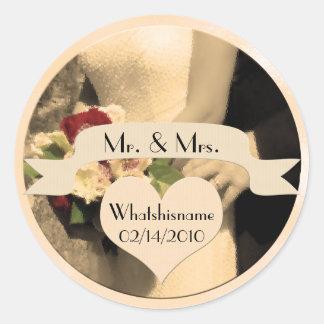 Herr u Frau Wedding Stickers