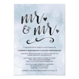 Herr u. Herr Gay Wedding Invitation 12,7 X 17,8 Cm Einladungskarte