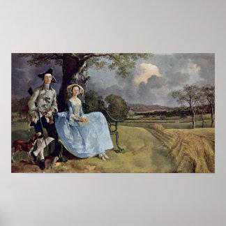 Herr und Frau Andrews durch Thomas Gainsborough Poster