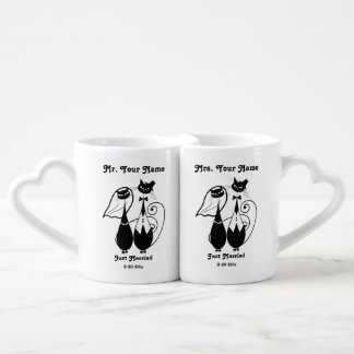 Herr-und Frau-Just Married Personalized Mug Set Liebestassen
