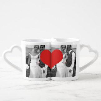Herr-und Frau-Newly Mittwoch Herz-Foto-Hochzeit Partnertassen