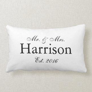 Herr und Frau Personalized Wedding Pillow2 Lendenkissen