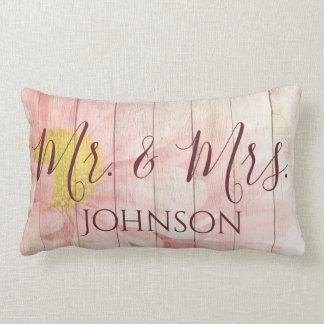 Herr und Frau Pink Floral Lendenkissen