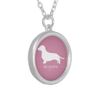 Herr whiter Dalton necklace pink and Versilberte Kette