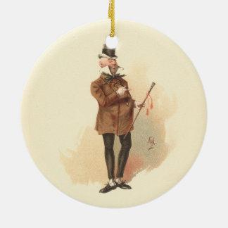 Herr Wilkins Micawber David Copperfield Keramik Ornament