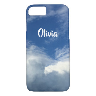 Herrliche fette Wolken in einem blauen u. weißen iPhone 8/7 Hülle