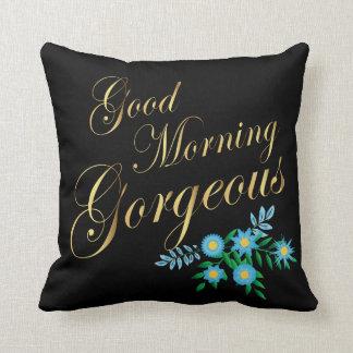 Herrliche | Goldbuchstaben des gutenmorgen- Kissen