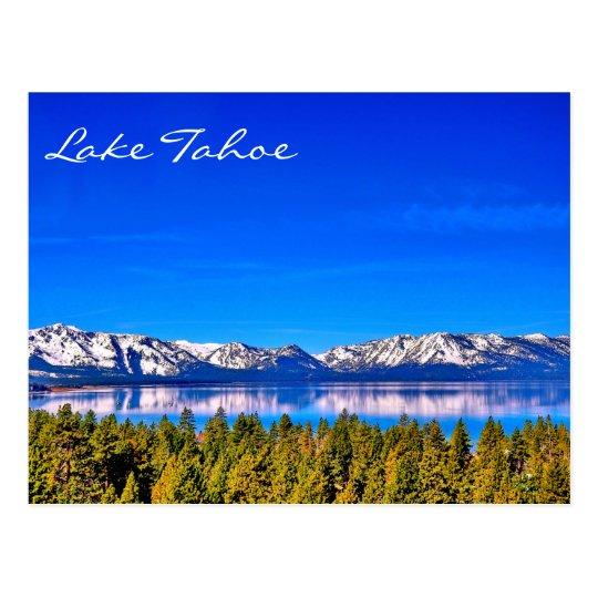 HERRLICHE LAKE- TAHOEpostkarte Postkarte