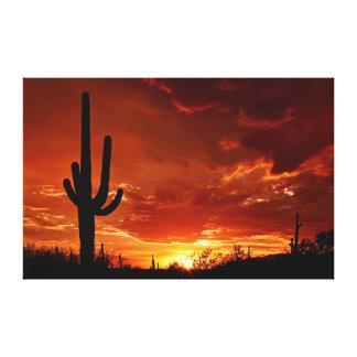 Herrliche orange Arizona-Wüste Leinwanddruck