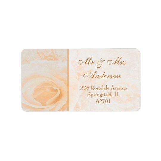 Herrliche Pfirsichcreme-Rose Adresse Adressaufkleber